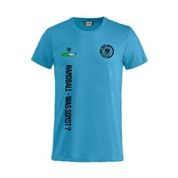 "Radeberger SV T-Shirt ""HANDBALL-WAS SONST"" türkis Junior"
